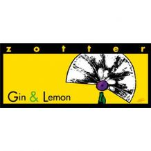 Zotter Gin And Lemon Dark Milk Chocolate Bar 70g